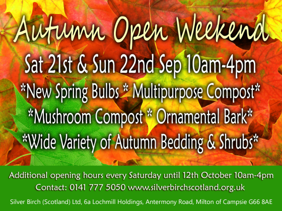 autumn open weekend poster website 2013